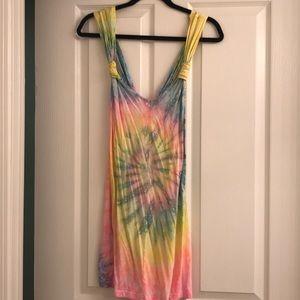 Unif tye dye dress with pockets!